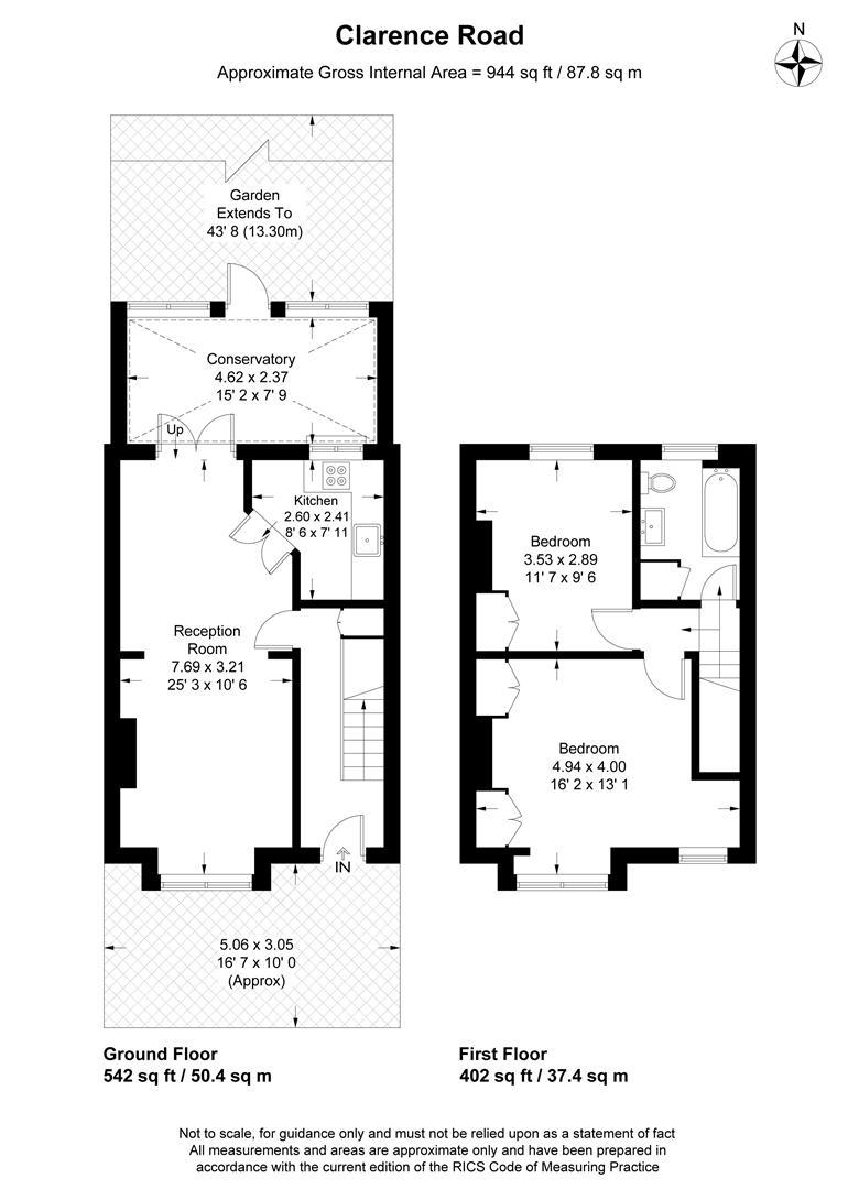 Floorplan for Clarence Road, Wimbledon